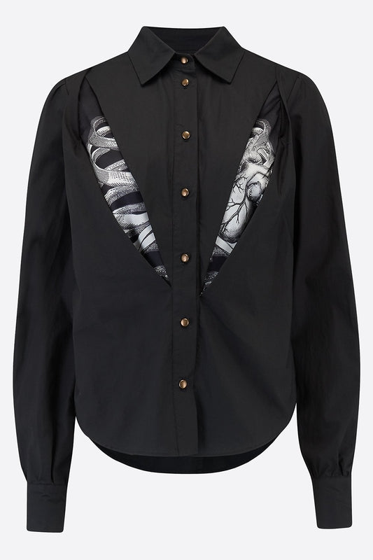VANITAS SHIRT IN BLACK-womenswear-A Child Of The Jago