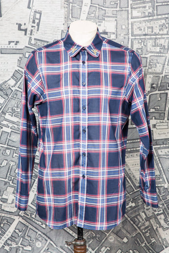 WASP SHIRT IN BLUE CHECK-menswear-A Child Of The Jago