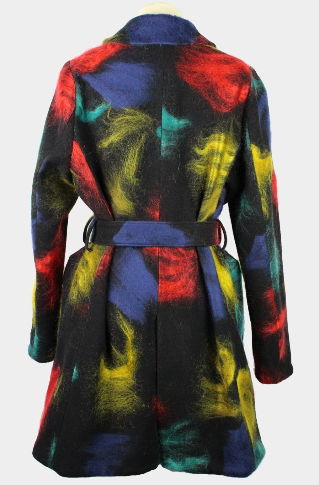 WOMEN'S BOB TROTTER COAT BLACK WITH CONTRASTS-womenswear-A Child Of The Jago