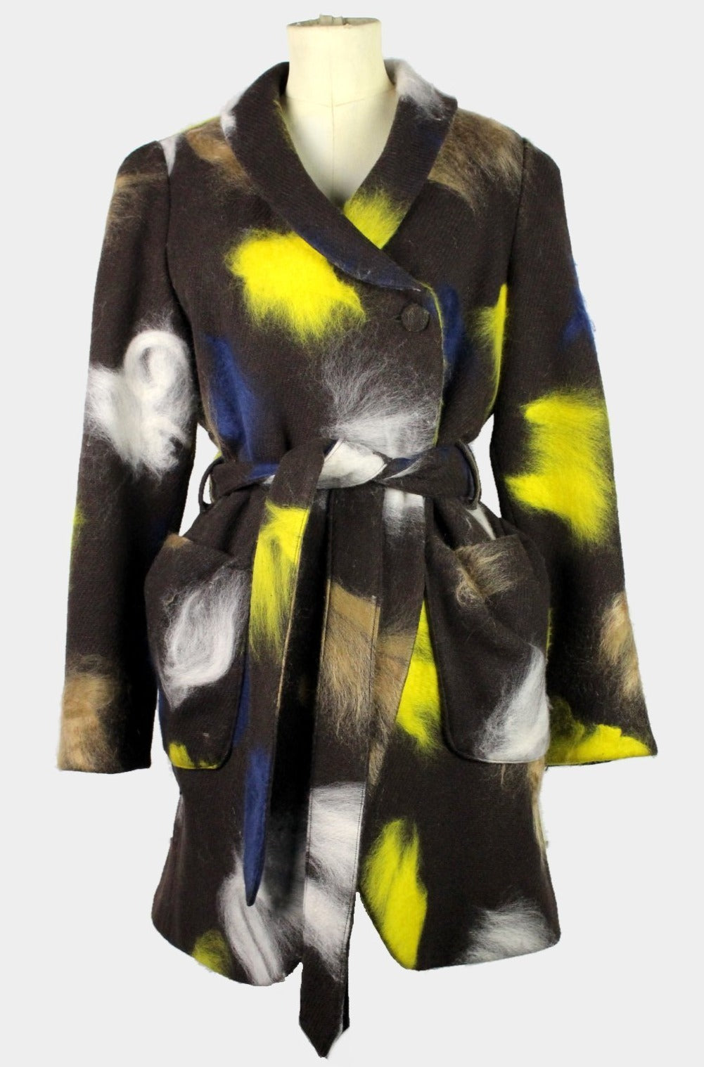 WOMEN'S BOB TROTTER COAT BROWN WITH CONTRASTS-womenswear-A Child Of The Jago