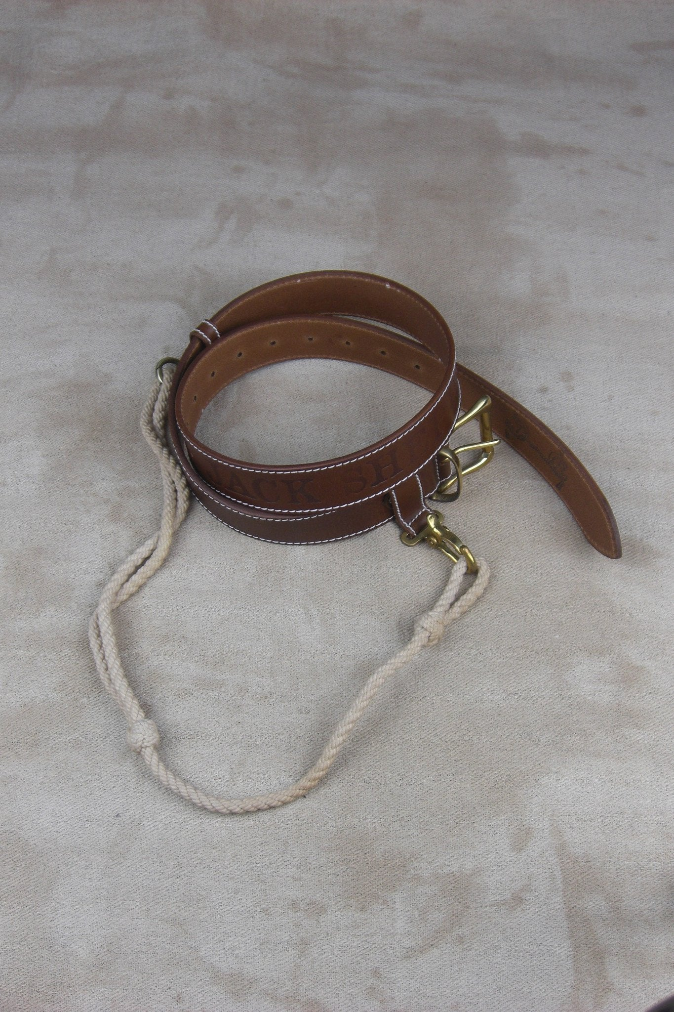 WOMEN'S TURNKEY BELT BROWN LEATHER AND LANYARD-accessories-A Child Of The Jago