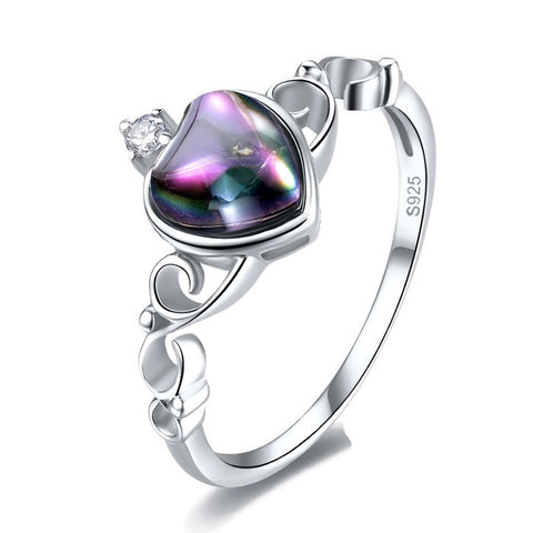 Sterling Silver Gorgeous Genuine 2.5 CT Mystic Topaz Claddagh Ring Sz 6-7