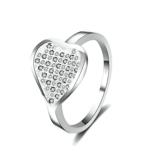 Sterling Silver Stunning Micro Pave Clear CZ Ring Sz 7-9