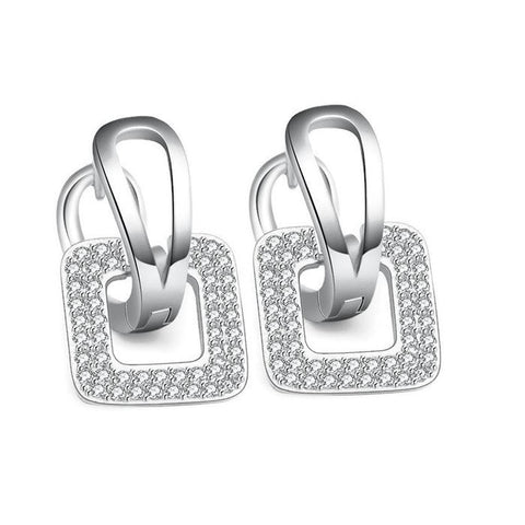 18K Gold Plated Unique Bell Design CZ Earrings