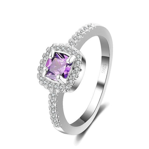 Sterling Silver Gorgeous Style Amethyst Ring Sz 6-9