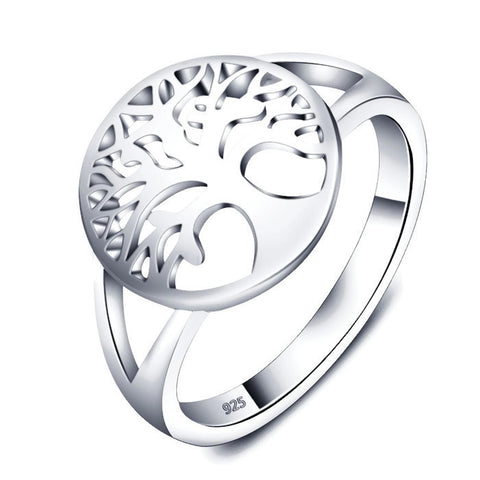 Sterling Silver Classic Tree of Life Ring Sz 5-9