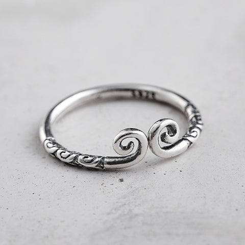 Sterling Silver Unique Monkey King Design Adjustable Band Ring