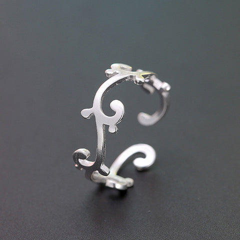 Sterling Silver Unique Branch Design Adjustable Ring