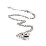 18K Gold Plated White Gold Finish If Love Could have Saved You Pendant w/ Chain
