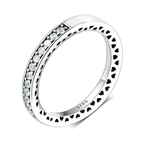 Sterling Silver Gorgeous Classic Half Eternity CZ Ring Band Sz 7-8