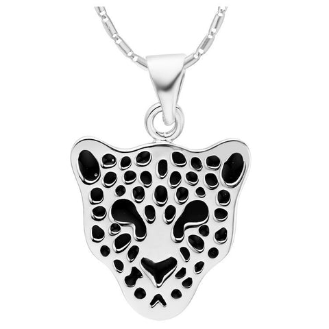 Sterling Silver Unique Cheetah Pendant w/ Chain