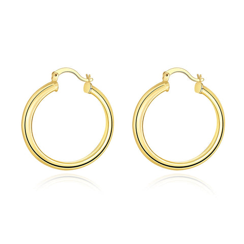 18k Gold Plated Simple & Cute Hoop Earrings