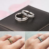 Stainless Steel Classic Eternity CZ Band Ring Sz 6-12