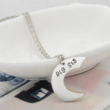 18k White Gold Plated White Gold Finish 3 Cute Sister Pendants w/ Chains
