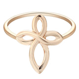 18K Gold Plated Infinity Cross Ring Sz 7