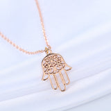 18K Gold Plated Hands of Hamsa Pendant w/ Chain