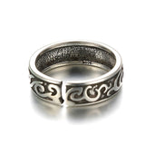 Sterling Silver Unique Tribal Style Adjustable Ring