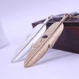 18K Gold Plated Choice of Classic or White Gold Finish Feather Pendants w/ Chain