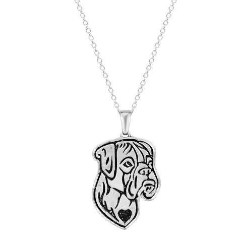 18K Gold Plated White Gold Plated Cute Boxer Pendant w/ Chain