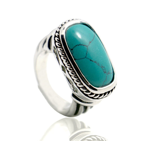 Sterling Silver High Quality Turquoise Ring Sz 6-11