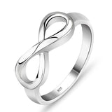 Sterling Silver Classic Infinity Ring Band Sz 5-10