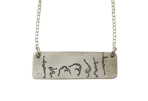 Gymnastics Back Handspring  Necklace