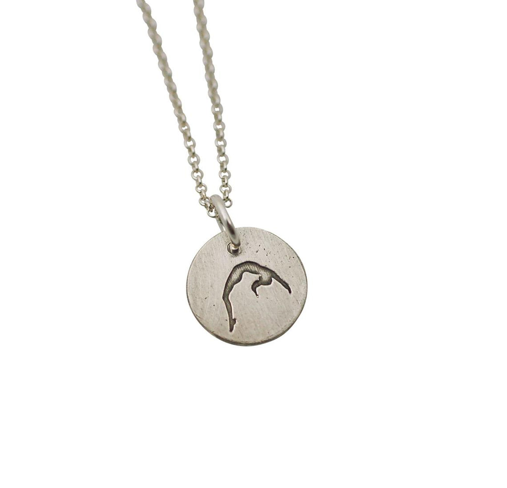 Gymnastics Back Handspring Disc Necklace