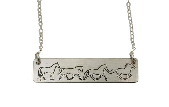 Walk, Trot, Canter, Gallup Necklace