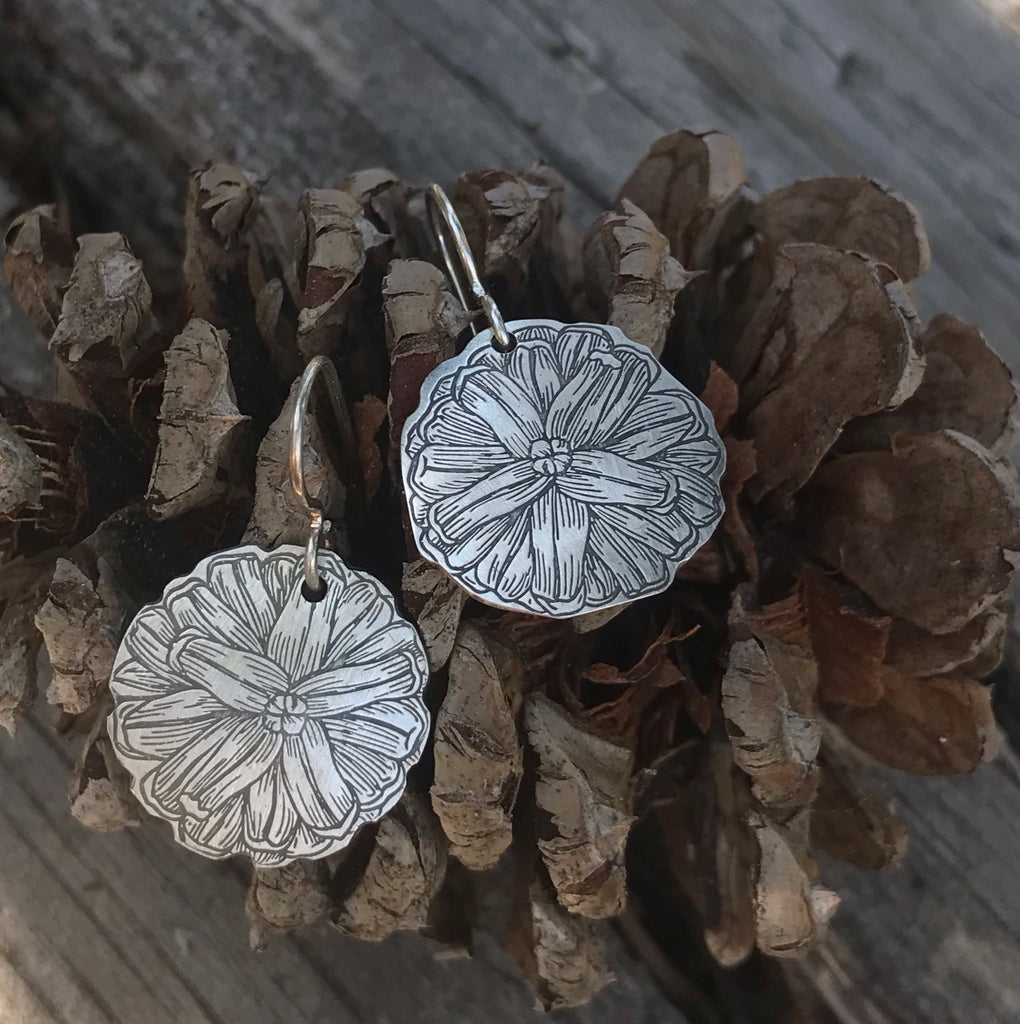 Pine Cone Earrings and Necklace