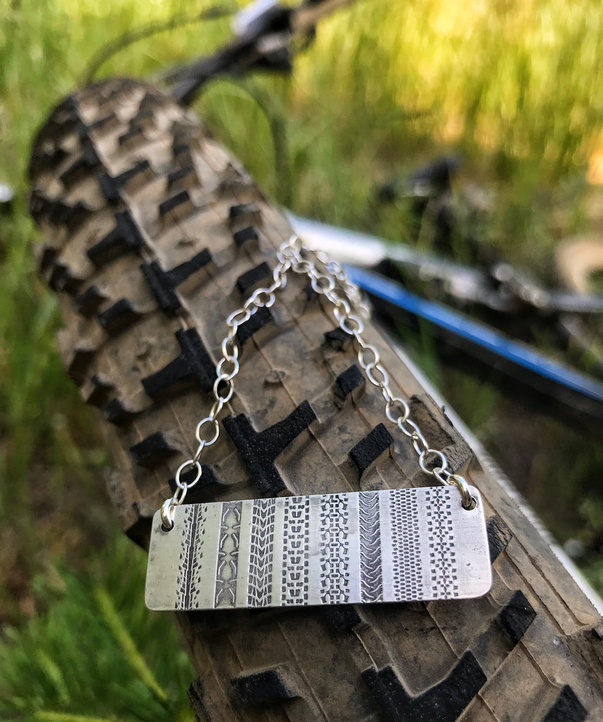 bike tread necklace
