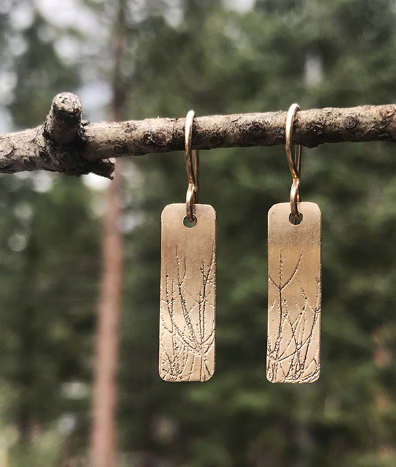 Simple Branch Necklace and Earrings