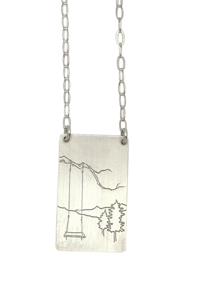 tree swing necklace