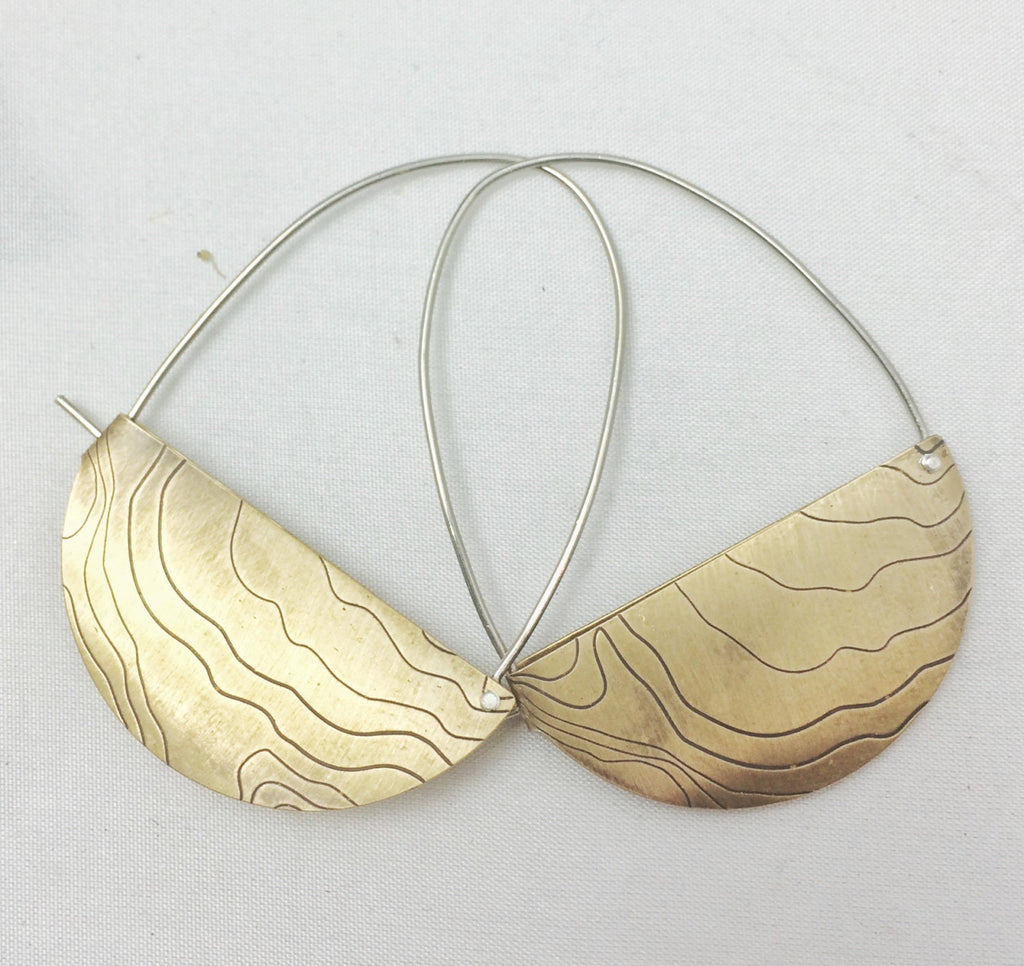 Rivet and Fold Hoops