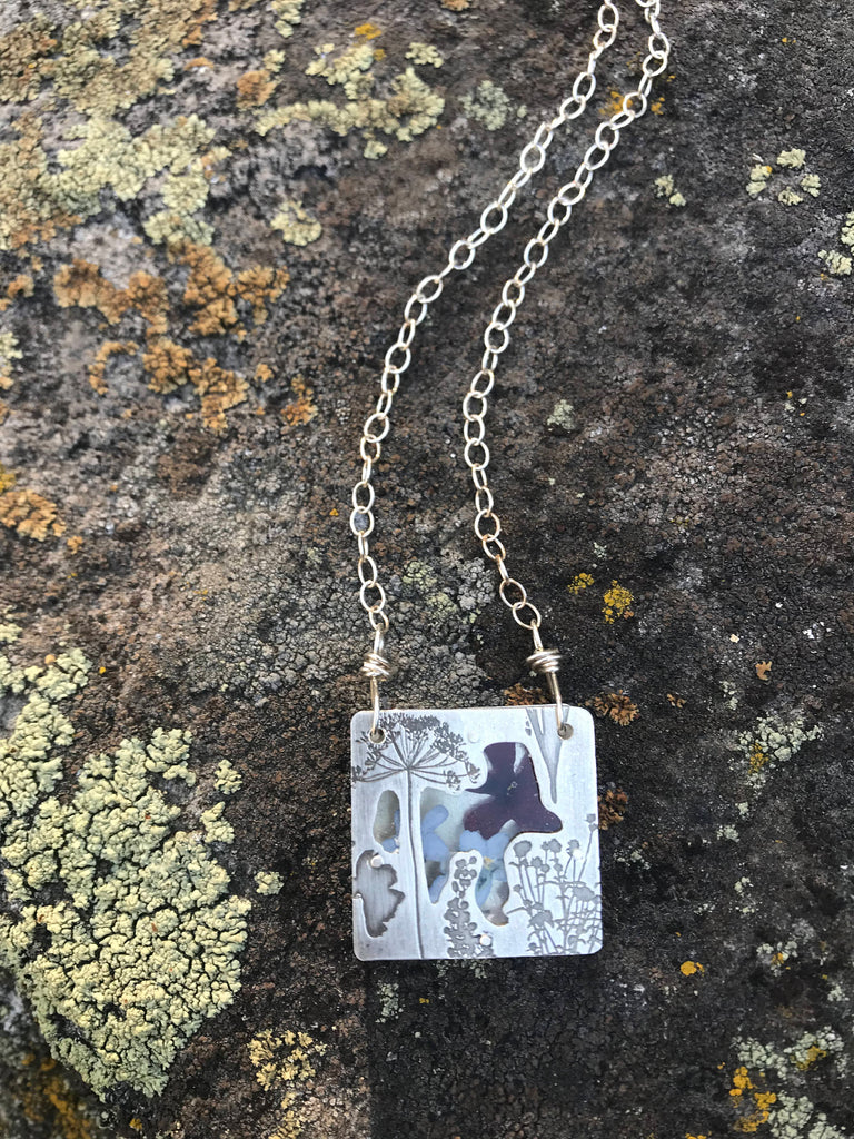 Pressed Wildflower Necklaces
