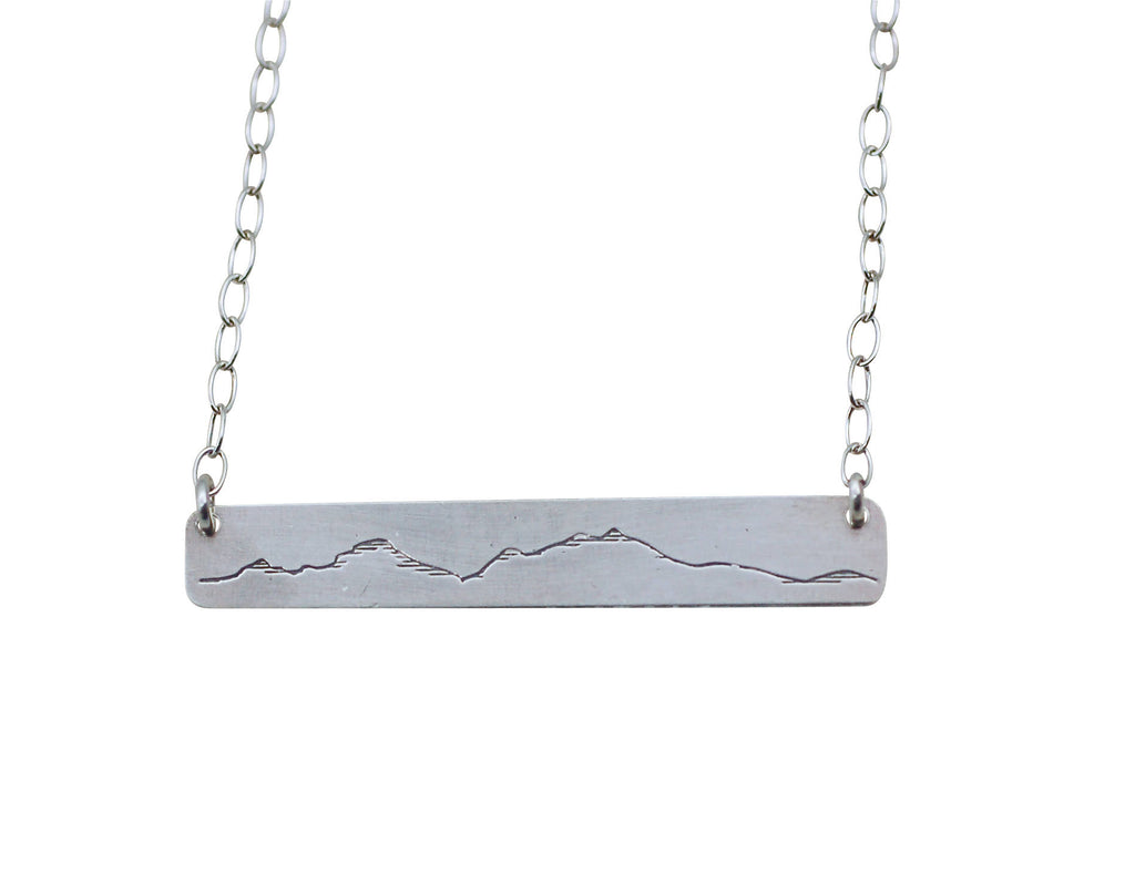 Simple Mountain Bar Necklace