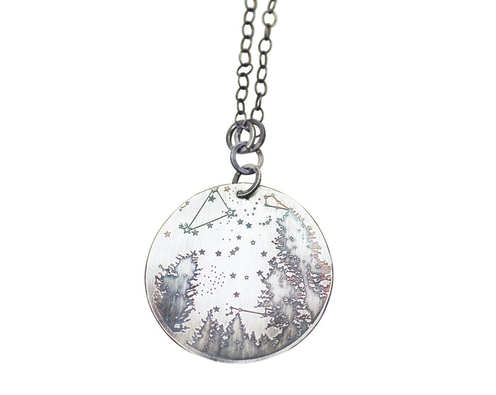 zodiac necklace, constellation necklace, constellation jewelry