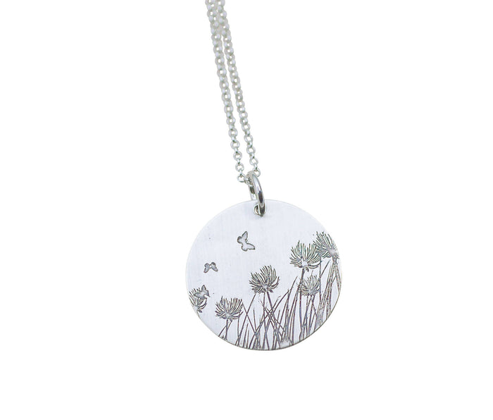 dandelion necklace, john muir jewelry