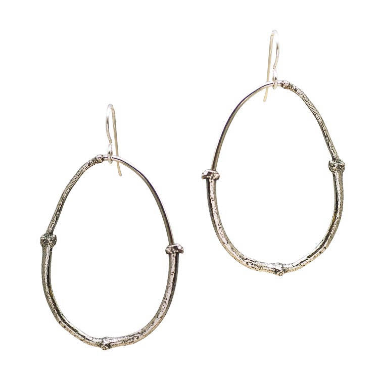twig hoops, twig jewelry