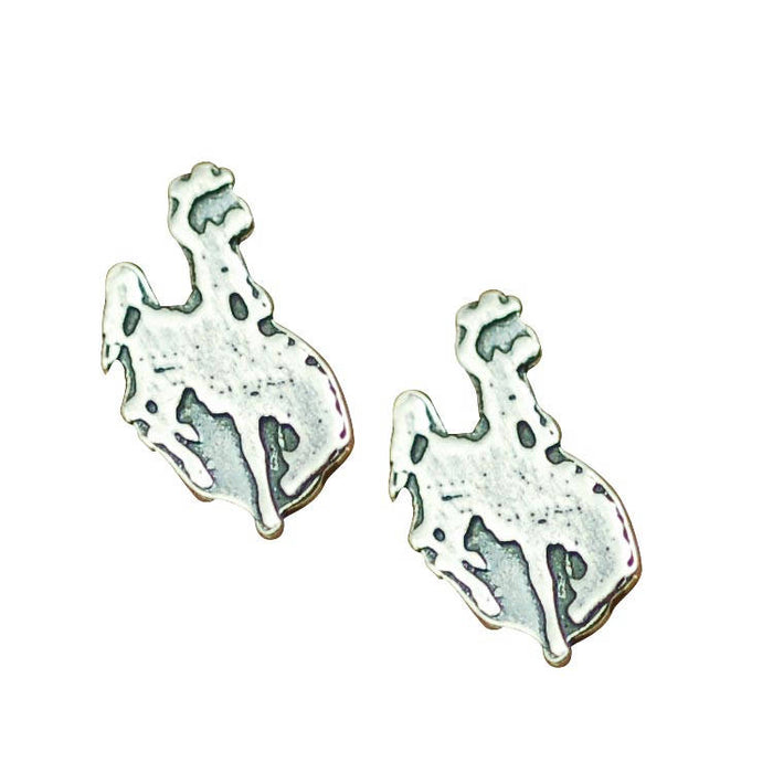 bronco studs, cowgirl earrings, cowboy jewelry