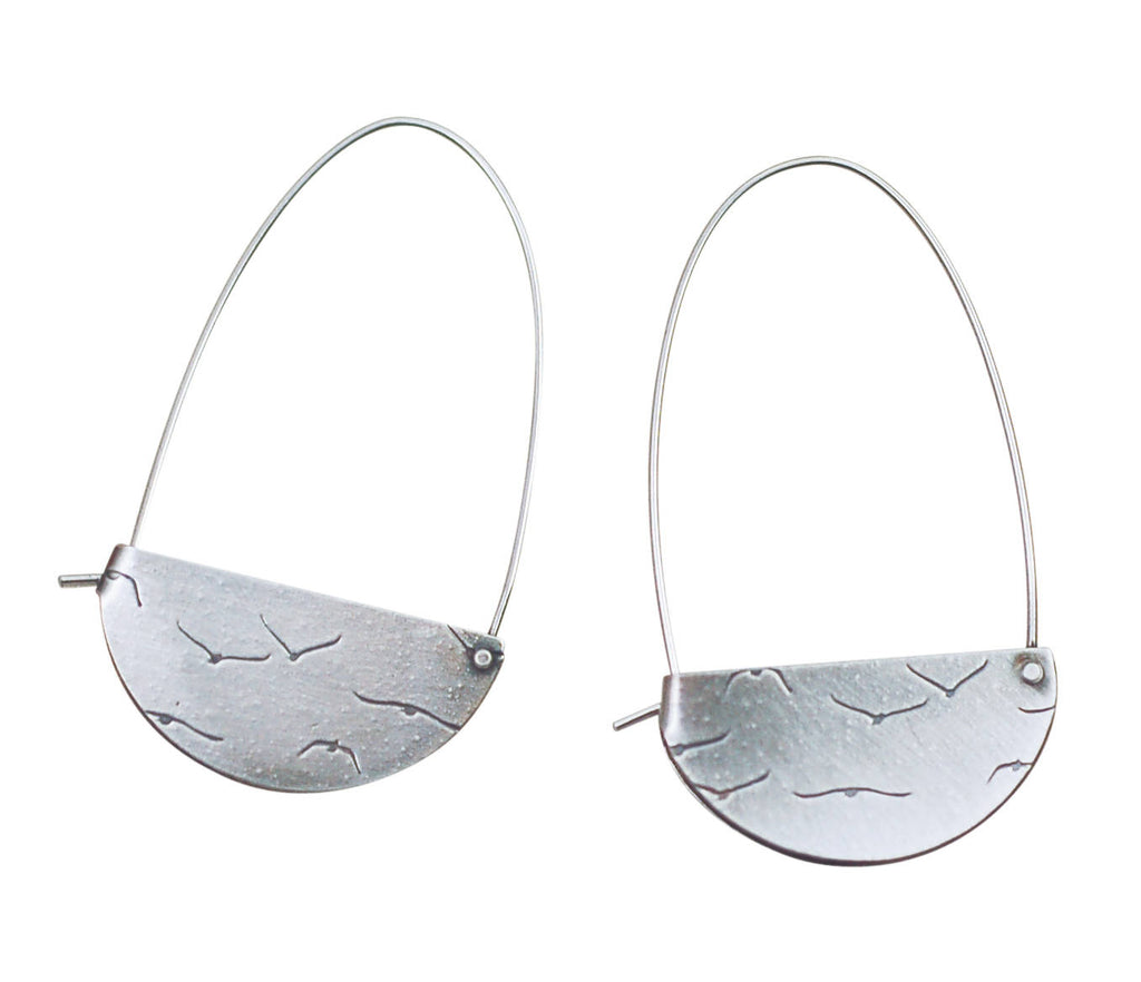 Rivet and Fold Hoops Large Series 2