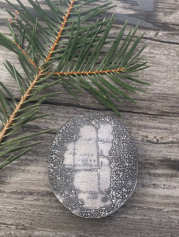 Etched Tahoe Belt Buckle