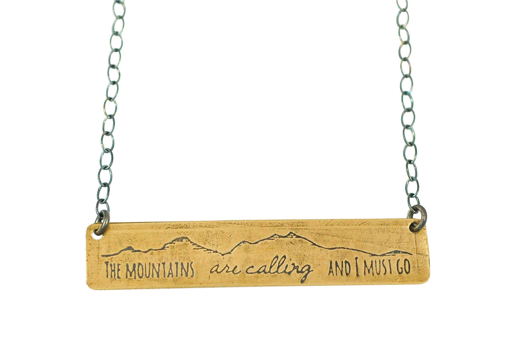 mountains calling necklace