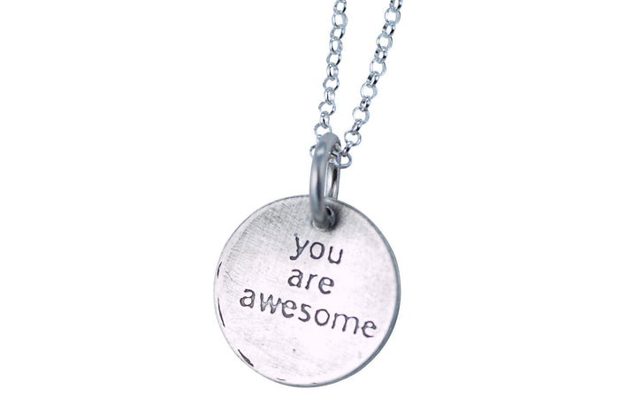 you are awesome necklace