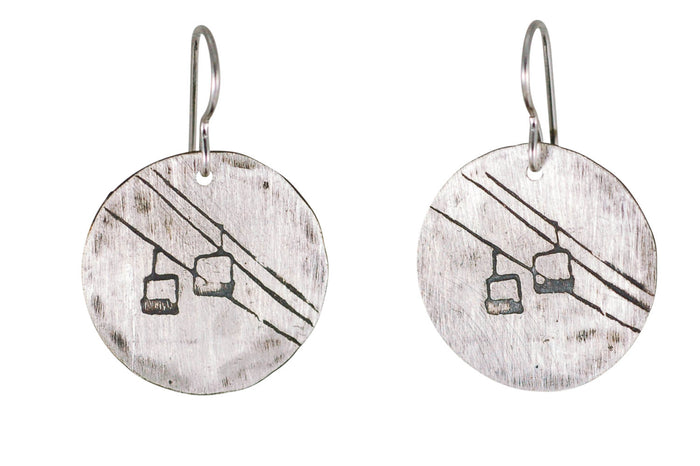 chair lift earrings