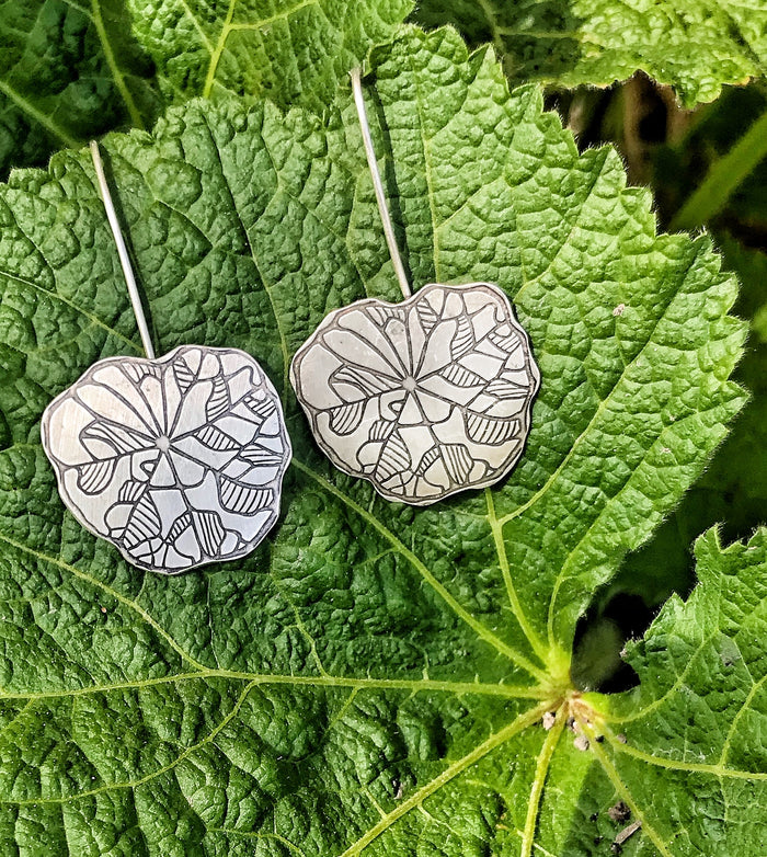 Geranium Leaf Earrings