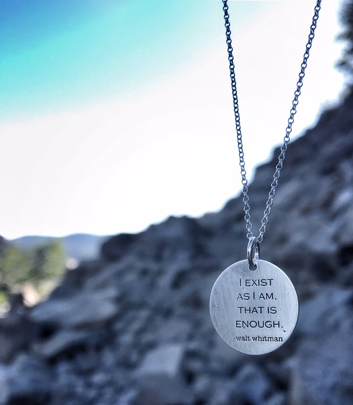 "Walt Whitman ""I exist as am...."" Pendant"