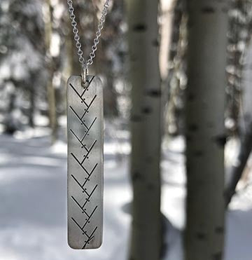 XC Ski Tracks Necklace