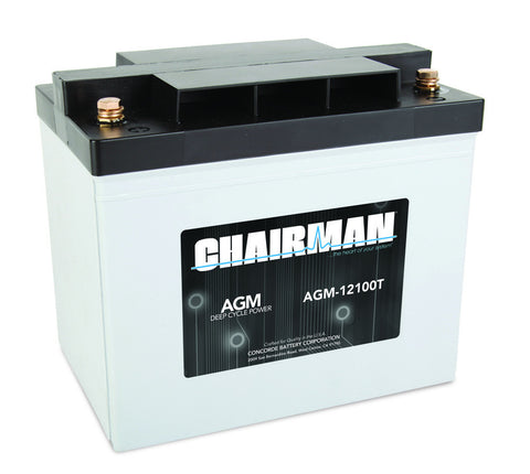 Chairman AGM-12100T - 12v - 100AH Deep Cycle Battery
