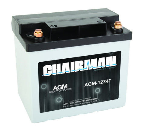 Chairman AGM-1234T - 12v - 33AH Deep Cycle Battery