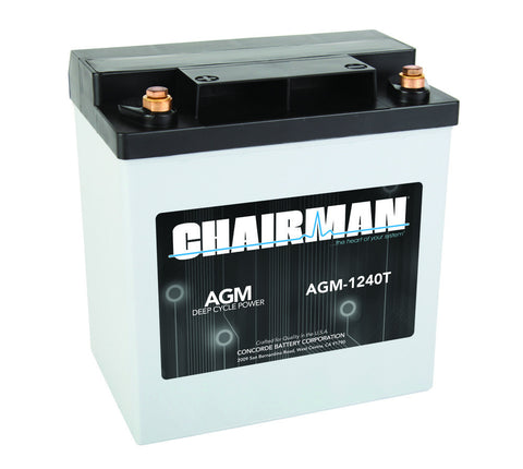 Chairman AGM-1240T - 12v - 40AH Deep Cycle Battery